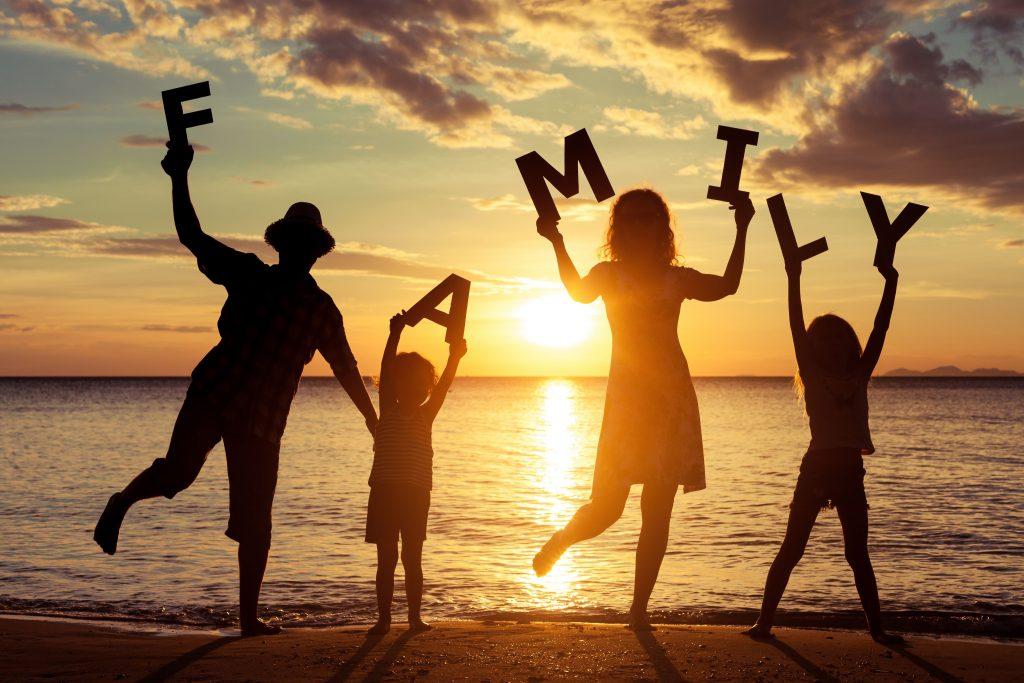 Family portrait beach sunset, Latitude21Resorts, Latitude 21 Resorts, Latitude21 Resorts