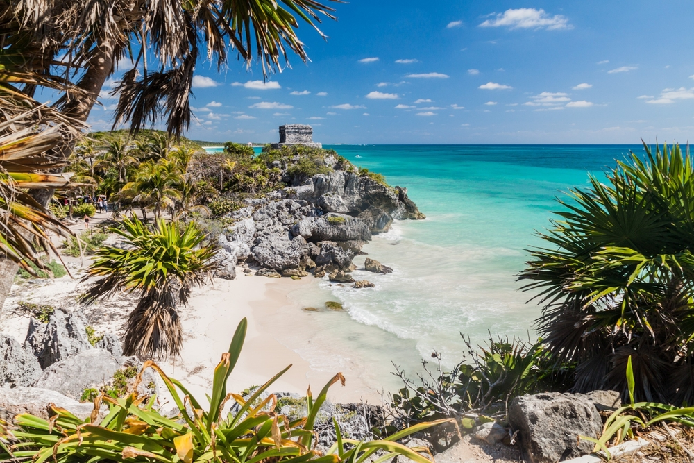Latitude21 Resorts - Tulum ruins overlooking the Caribbean Sea